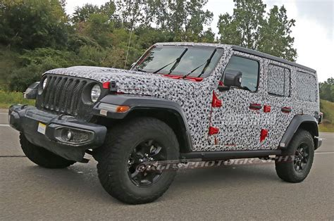jeep wrangler unlimited 2018 spied 2018 jeep wrangler jl unlimited totally uncovered