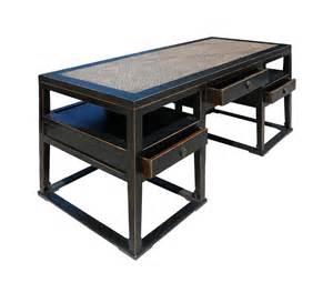 Wicker Computer Desk Black Rattan Top Solid Elm Wood Office Desk Computer Table Wk2259 Ebay