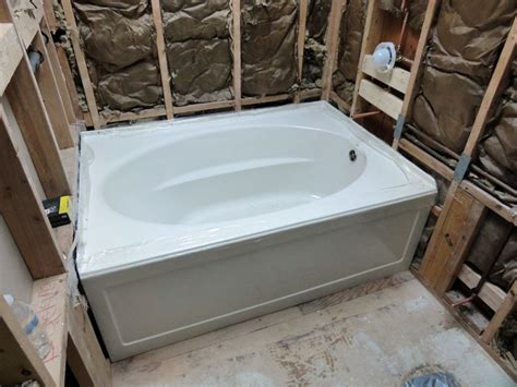 how to install an acrylic bathtub installing a kohler acrylic windward 194 174 tub k 1113 60 quot x