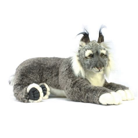 size stuffed animal handcrafted 28 inch size lynx stuffed animal by hansa at stuffed safari