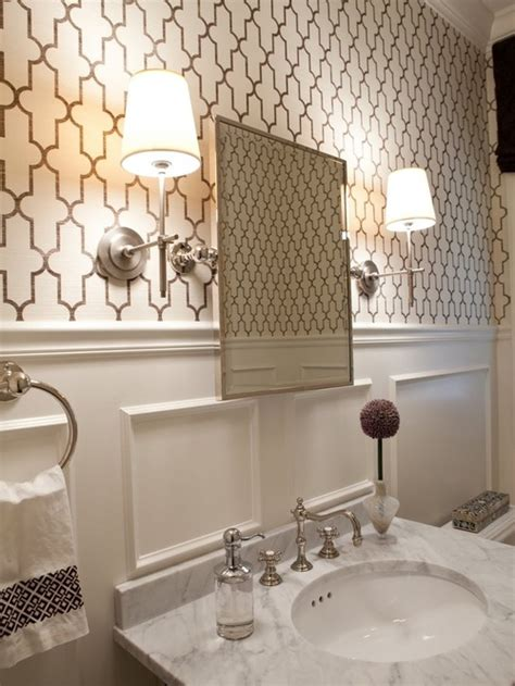 Bathroom With Wallpaper Ideas Best Moroccan Inspired Wallpaper Design Ideas Amp Remodel