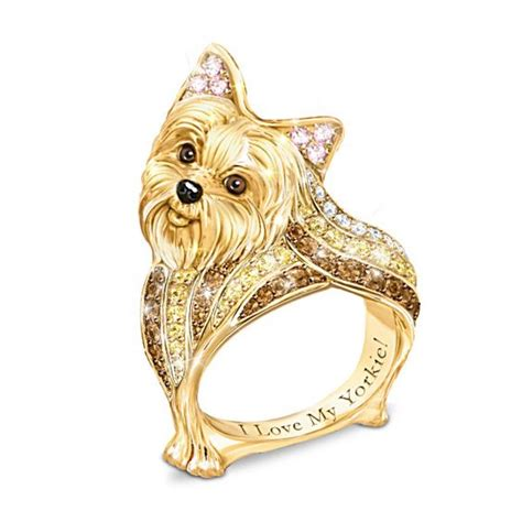 yorkie jewelry terrier best in show ring bradford exchange for the of dogs