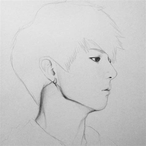 Drawing Sketches O by Mulpix Bts Jungkook Artist Artsy Btsfanart