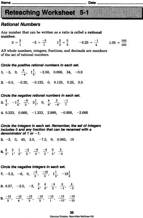 Rational Numbers Worksheets 8th Grade by 3rd Hour Math Mr Tat S Math Zone