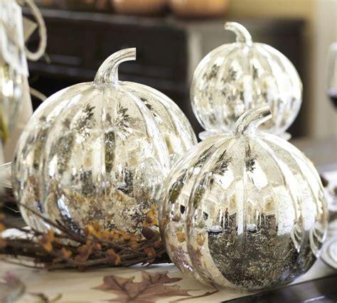 Glass Pumpkin Decorations by Antique Mercury Glass Pumpkin Modern