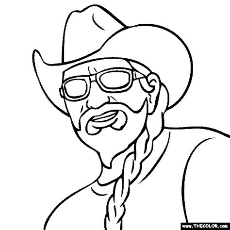 willie nelson fan page coloring pages starting with the letter w page 3