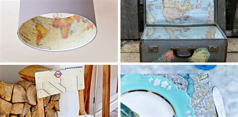Map Decor Crafts To Make Your Home Unique Pillar Box Blue | map decor crafts to make your home unique pillar box blue