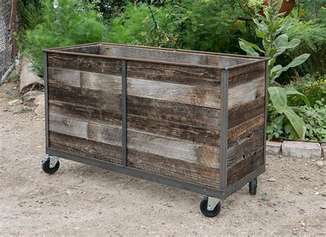 Casters For Planters by Steel Frame Planters With Cedar Inserts Casters 1 Custom