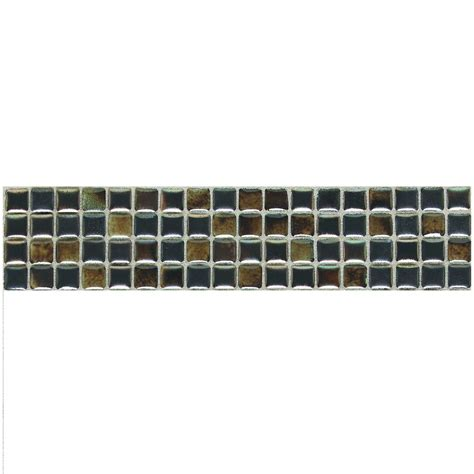 daltile fashion accents umber 3 in x 12 in illumini accent mosaic wall tile f012312dcocc1p2