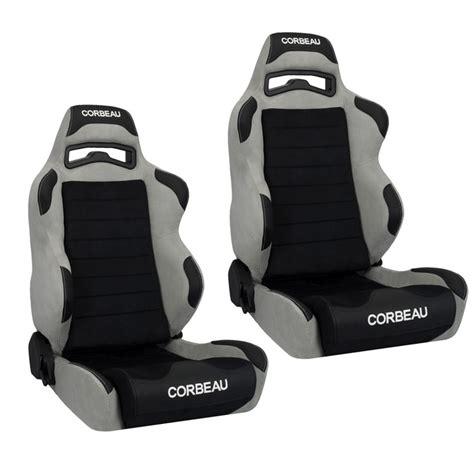 corbeau racing seat corbeau lg1 racing seat black grey microsuede s25509