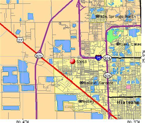 map hialeah florida 33018 zip code hialeah florida profile homes