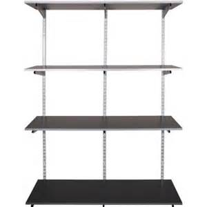 rubbermaid shelving systems rubbermaid fasttrack garage 4 shelf 48 in x 16 in