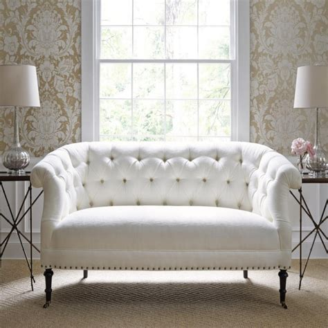 White Tufted Sofa Set Furniture Gl Coffee Table And Tufted Leather Sofa Set