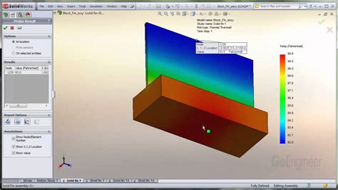 Solidworks Tutorial Heat Transfer | solidworks simulation shell elements for heat transfer