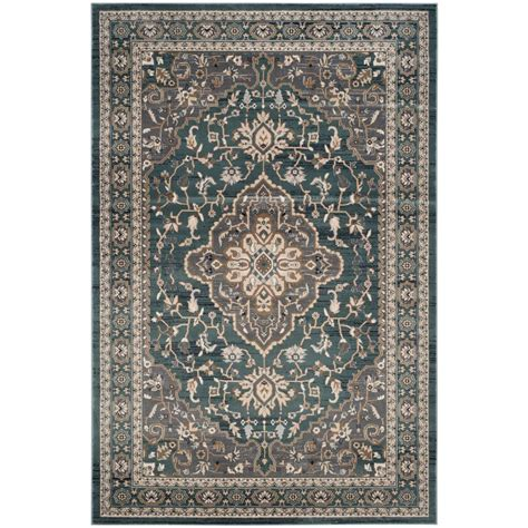 gray and teal rugs safavieh lyndhurst teal gray 8 ft x 10 ft area rug lnh338a 810 the home depot