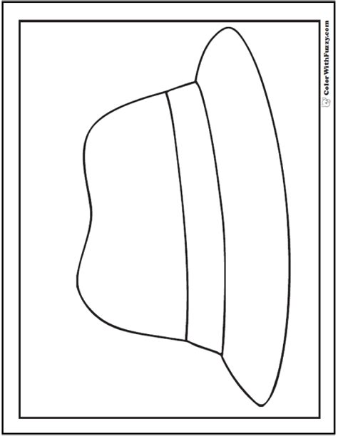 fedora hat coloring page 55 birthday coloring pages customizable pdf