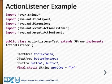 tutorial java listener java gui part iii