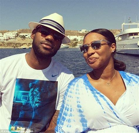 lebron james takes pregnant wife savannah brinson to