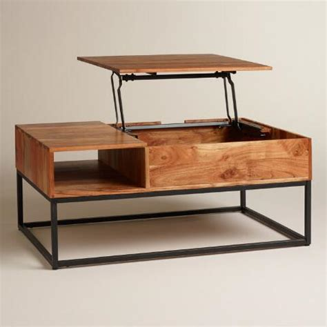 market coffee table wood silas storage coffee table market