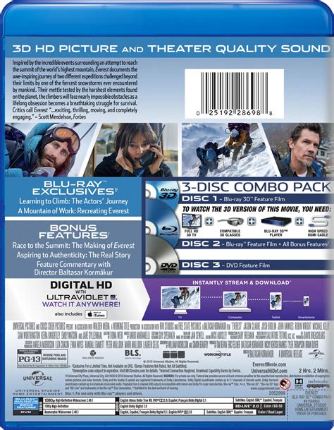 film everest in dvd everest movie page dvd blu ray digital hd on demand
