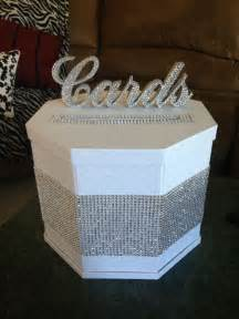 how to make a wedding reception gift card box diy blinged out gift card box our winter wedding
