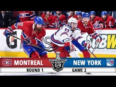 montreal canadiens vs new york rangers | round 1 game 2