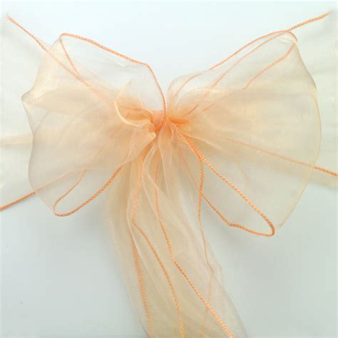 coral organza chair sashes buy wholesale coral chair sashes from china coral