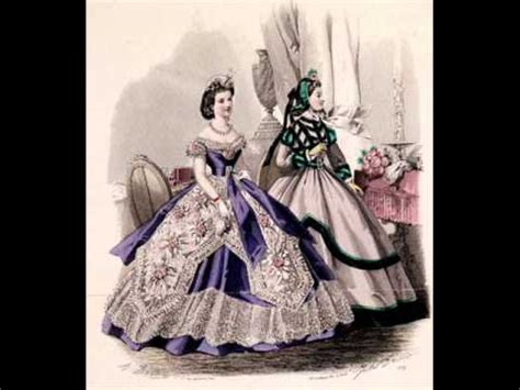 cage crinoline balldresses from 1850´s and 1860's youtube
