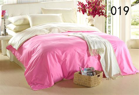 Solid Pink Comforter by Solid Pink Beige Cotton 4pcs Bedding Sets Duvet Cover