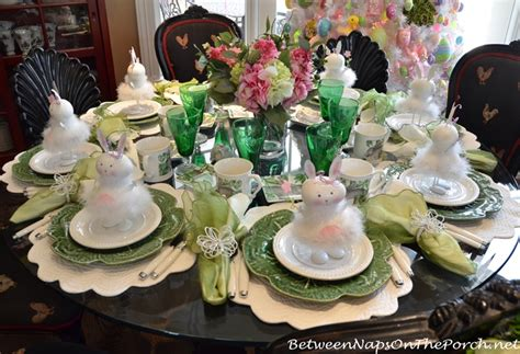 Large Dining Room Ideas Spring Easter Table Setting Amp An Easter Decorated Tree