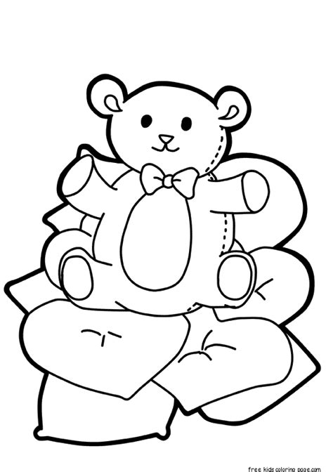teddy bear in pajamas coloring page teddy bear in pajamas coloring page alltoys for