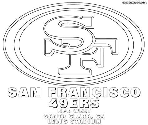 49ers Coloring Page by San Francisco 49ers Coloring Pages To Print Coloring For