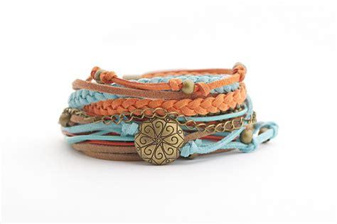 western wrap bracelet bohemian bracelet turquoise brown