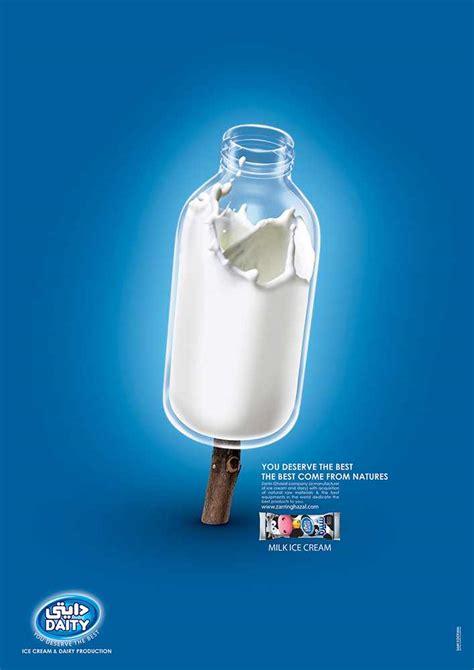 Design Milk Advertising   daity milk ice cream advertising caign ads