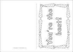 special person card template thank you letter bags and presents on