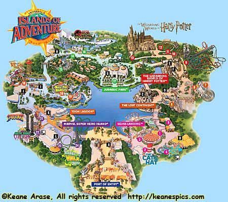 universal studios orlando map of area | images of map of