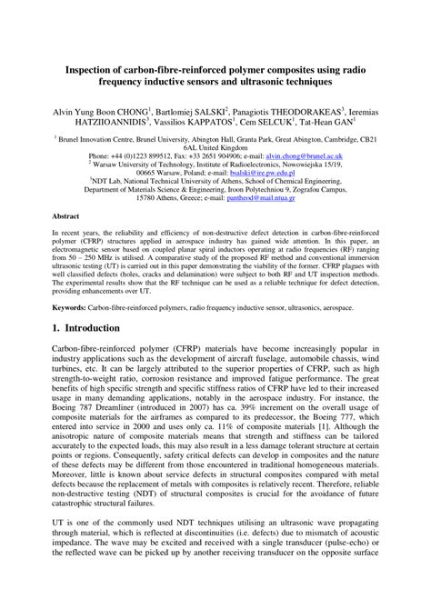 (PDF) Inspection of carbon-fibre-reinforced polymer