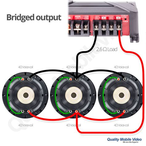subwoofer impedance and lifier output quality mobile