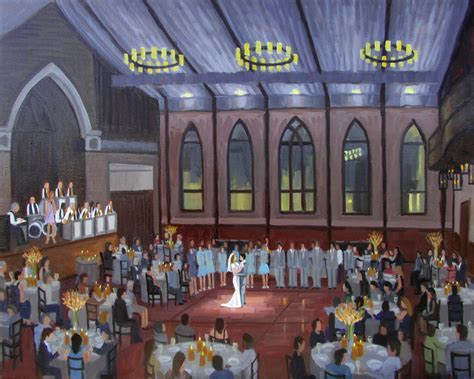 Live Wedding Painting   Keeley   Danny ? Wed on Canvas