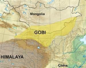 desert map mongolia maps
