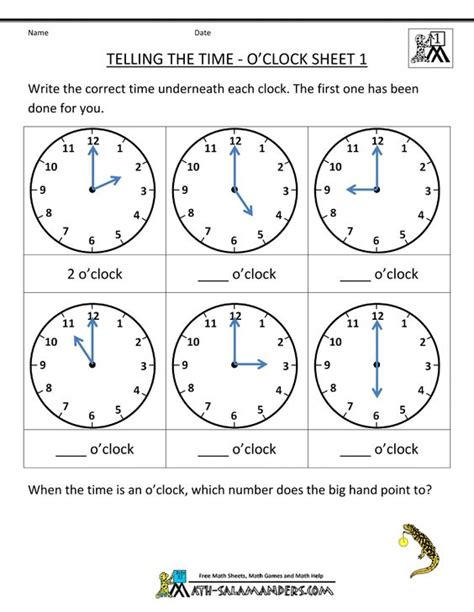 printable time games year 2 telling time worksheets and 1st grade math worksheets on