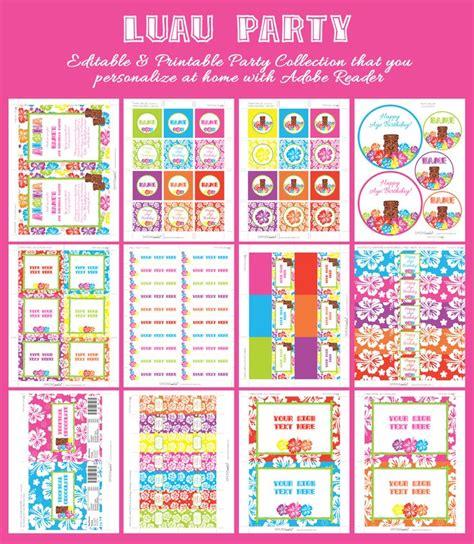 free printable luau party decorations pin by birthday party ideas on luau hawaiian birthday