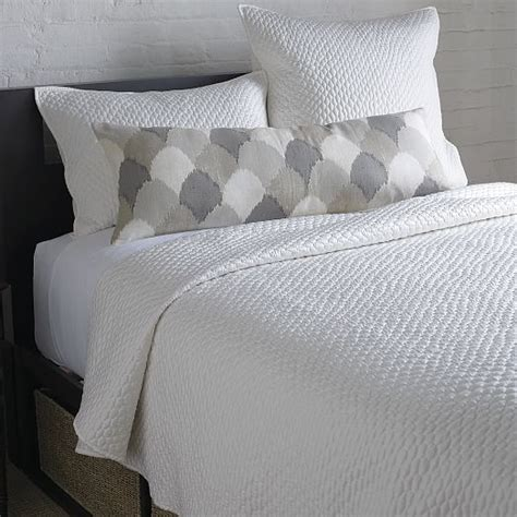 coverlet and shams lexington coverlet shams west elm
