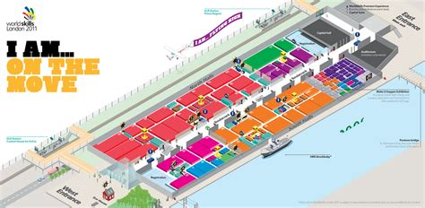 layout of excel london world skills london visitor map