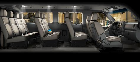 nissan van 12 passenger nissan reveals 2012 nv3500 hd passenger van it carries up
