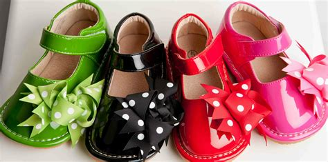 squeaky shoes polka dot solid patent clip on squeaky shoes