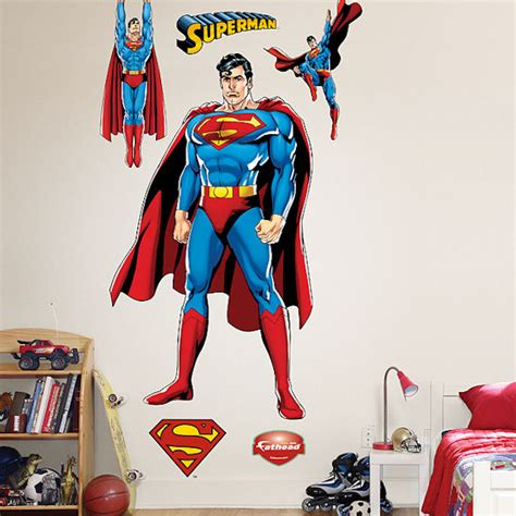 superman wall stickers superman justice league fathead wall sticker