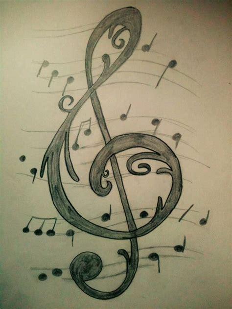 imagenes a lapiz musica dibujos clave de sol by alejandra reveles drawings and