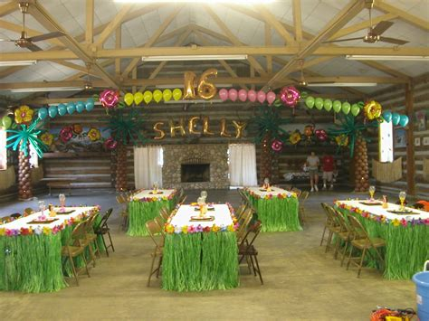 hawaiian themed decorations ideas balloon decor of central california themes