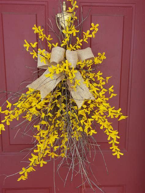 twig door swags forsythia door swag swags pinterest door forsythia door swag jill s twig wreaths americana twig